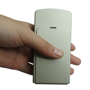 phone jammer lelong le-2050 - Mini Portable Triple Frequency GPS Jammer With Built-in Antenna + Light Brown (GPS L1/L2/L5)