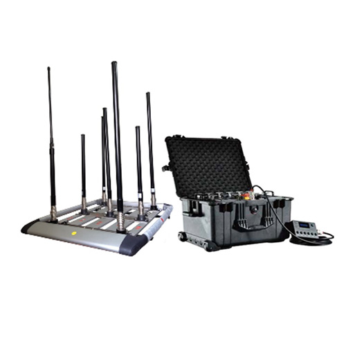 Adjustable wifi signal Jamming - 300W 4-8bands High Power Drone Jammer Jammer up to 1500m