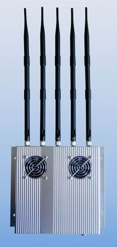 Build cell phone jammer | 5 Antenna 25W High Power 3G Cell phone Jammer with Outer Detachable Power Supply