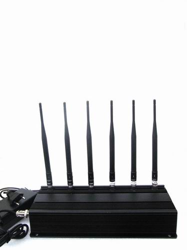 Wholesale 6 Antenna Cell phone,GPS & RF Jammer (315MHz/433MHz)