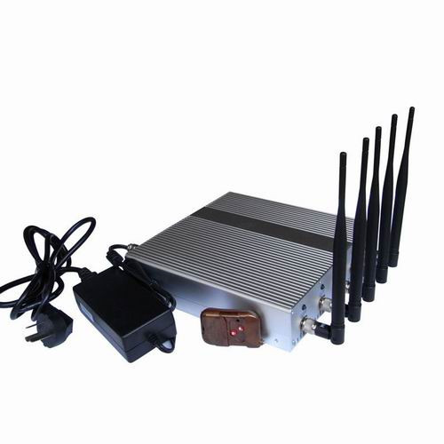 Wholesale 5 Band High Power 3G 4G Wimax Cell Phone Jammer with Remote Cont