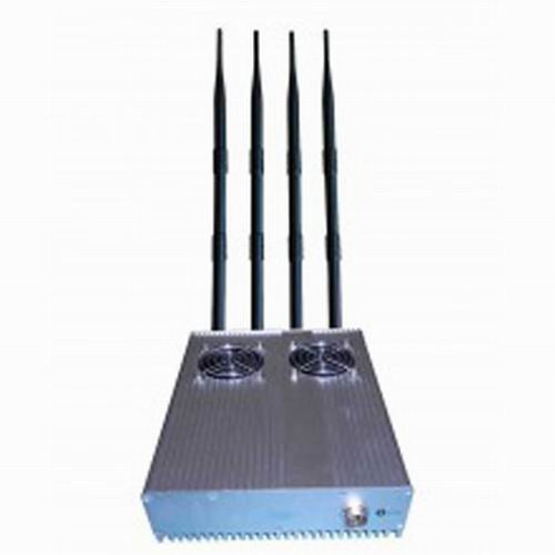 jammer gps wifi for cars - 20W Powerful Desktop GPS 3G Mobile Phone Jammer with Outer Detachable Power Supply