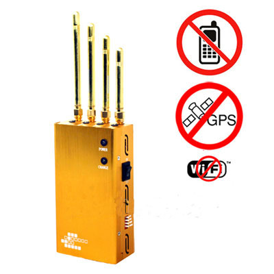 6 antenna gps cell phone wifi vhf uhf jammer - Powerful Golden Portable Cell phone & Wi-Fi & GPS Jammer