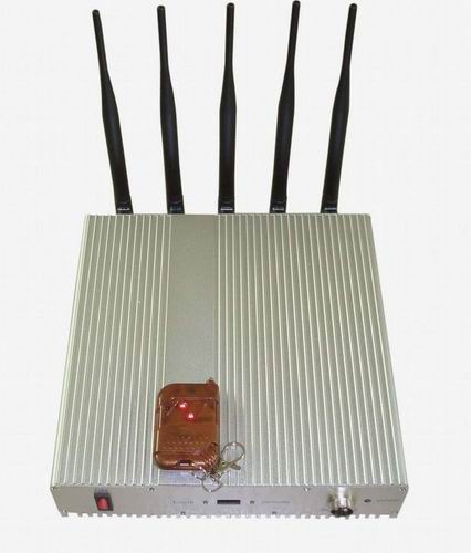 Wholesale 5 Band Cellphone Lojack GPS Jammer with Remote Control