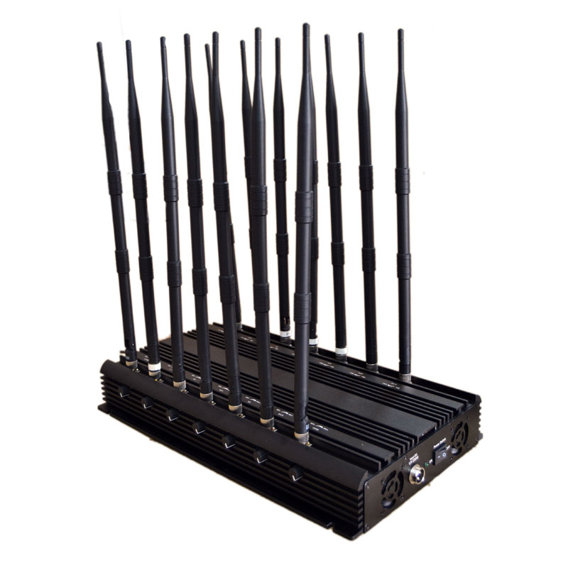 Wholesale Adjustable 14 Antennas Powerful 3G 4G Phone Blocker &WiFi UHF VH
